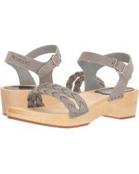 Swedish Hasbeens - Tanja Debutant (grey Nubuck) Women's Sandals - Lyst