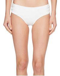 MICHAEL Michael Kors - Shirred Bikini Bottoms (black) Women's Swimwear - Lyst