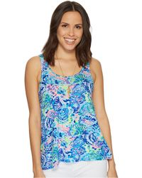 Lilly Pulitzer - Knit Pajama Tank Top (raz Berry Rose All Day) Women's Pajama - Lyst