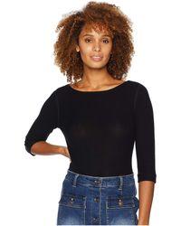 Three Dots - Brushed Sweater 3/4 Sleeve British Tee (black) Women's Clothing - Lyst