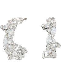 Swarovski - Lady Hoop Pierced Earrings (white) Earring - Lyst