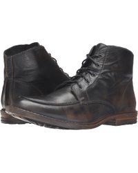 Bed Stu - Curtis (black Barcelona/rust Bfs Leather) Men's Lace-up Boots - Lyst