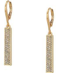 Lauren by Ralph Lauren - Micropave Linear Bar Earrings (silver) Earring - Lyst