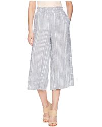Two By Vince Camuto - Variegated Stripe Linen Wide Leg Culottes - Lyst
