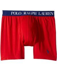 d51e0e2d89c1 Polo Ralph Lauren - Microfiber Pouch Boxer Brief (rl2000 Red/fall Royal  Pony Print