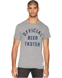 The Original Retro Brand - Official Beer Taster Vintage Tri-blend Tee (streaky Grey) Men's T Shirt - Lyst