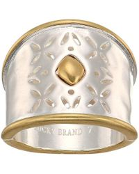 Lucky Brand - Openwork Ring (two-tone) Ring - Lyst