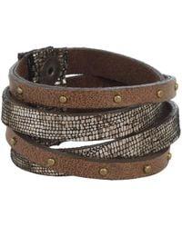 Leatherock - B453 (bronze) Bracelet - Lyst