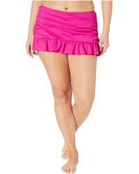 e281638edb0ca Kenneth Cole - Plus Size Ruffle-licious Ruched Skirt (passionfruit) Women s  Swimwear -
