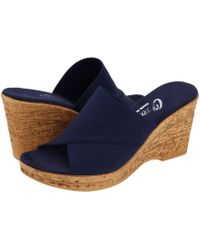 Onex - Christina (black Elastic) Women's Wedge Shoes - Lyst