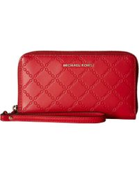 2562d762d9ff MICHAEL Michael Kors - Mercer Large Flat Multifunction Phone Case (sea  Coral) Cell Phone