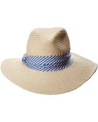 ea4943b62cc Hat Attack - The Harbor W  Stripe Fabric Band (natural blue) Traditional