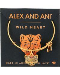 ALEX AND ANI - Path Of Symbols - Wild Heart Ii Bangle (rafaelian Silver) Bracelet - Lyst