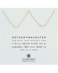 Dogeared - Mother Daughter, 2 Small Pearl Necklace (gold Dipped) Necklace - Lyst