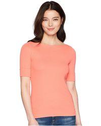 Lauren by Ralph Lauren - Petite Cotton Boat Neck T-shirt (calla Lily) Women's T Shirt - Lyst