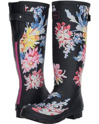 Joules - Tall Welly Print (black Love Bees Rubber) Women's Rain Boots - Lyst