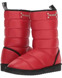 Love Moschino - Quilted Ankle Boot (red) Women's Pull-on Boots - Lyst