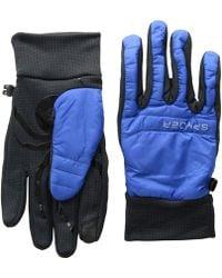 Spyder - Glissade Hybrid Gloves (turkish Sea/black/black) Extreme Cold Weather Gloves - Lyst