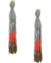 Oscar de la Renta | Long Ombre Tassel C Earrings | Lyst
