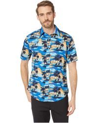 df332352 Lyst - Scotch & Soda All-over Printed Hawaii Collar Shirt in Green ...