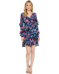 Laundry by Shelli Segal - Floral Printed Dress With Ruffle Detail - Lyst