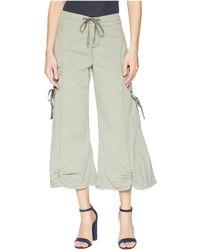 XCVI - Cargo Gaucho Crop (green Slate) Women's Capri - Lyst