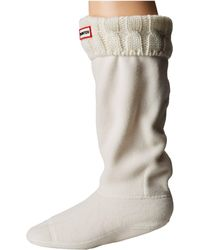 HUNTER - 6 Stitch Cable Boot Sock (black/grey) Women's Crew Cut Socks Shoes - Lyst