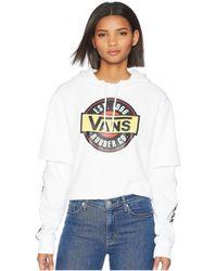 Vans - Chromo Twofer Hoodie (white) Women's Sweatshirt - Lyst