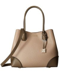 MICHAEL Michael Kors - Mercer Gallery Medium Center Zip Tote (truffle/mushroom) Tote Handbags - Lyst