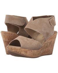 Cordani - Rhonda (taupe Suede/cork) Women's Wedge Shoes - Lyst