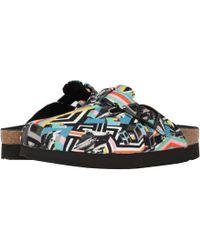 7806f939027 Birkenstock - Boston Platform (pattern Clash Polychromatic Textile) Women s  Shoes - Lyst