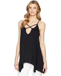 Roper - 1609 Polyester Blend Knit Cross Front Tank - Lyst
