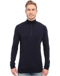 Smartwool - Nts Mid 250 Zip T Top (deep Navy) Men's Long Sleeve Pullover - Lyst
