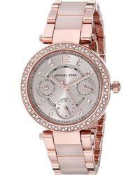 Michael Kors - Mk6110 - Mini Parker (rose Gold/blush) Watches - Lyst
