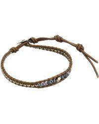 Chan Luu - Single Button Bracelet (dark Champagne Mix) Bracelet - Lyst