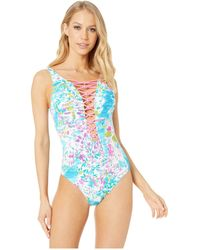 84a33cf532c91 Lilly Pulitzer - Isle Lattice One-piece (multi Postcards From Positano)  Women s Swimsuits