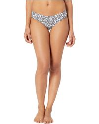 MICHAEL Michael Kors - Boho Fleur Shirred Smooth Fit Cheeky Bikini Bottoms (gunmetal) Women's Swimwear - Lyst
