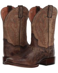 Dan Post - Turner (chocolate/bone Leather) Cowboy Boots - Lyst