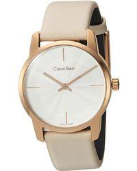 Calvin Klein - City Watch - K2g236x6 (silver/beige) Watches - Lyst