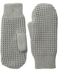 Hat Attack | Waffle Stitch Mitten With Lining | Lyst