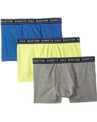 Kenneth Cole Reaction - 3-pack Basic Trunk (navy/orange/light Aqua) Men's Underwear - Lyst