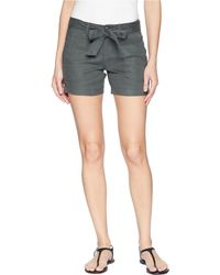 Liverpool Jeans Company - Kinley Shorts With Tie Belt In Soft Stretch Linen In Fennel Green - Lyst