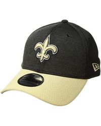 8fe76aaee60 KTZ - 39thirty Official Sideline Home Stretch Fit - New Orleans Saints ( black gold