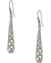 John Hardy - Legends Naga Earrings (silver) Earring - Lyst