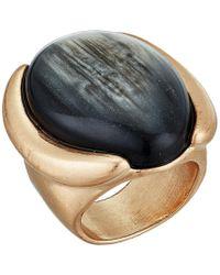 Robert Lee Morris - Oval Stone Ring (black) Ring - Lyst