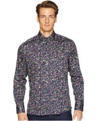 Etro - New Warrant Wallpaper Floral Shirt (navy) Men's Clothing - Lyst