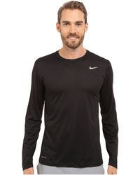 0dfd7f54b8bb Lyst - Nike Legend 2.0 Long Sleeve Tee (white black black) Men s T ...