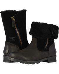 Sorel - Emelietm Fold-over (camel Brown) Women's Zip Boots - Lyst