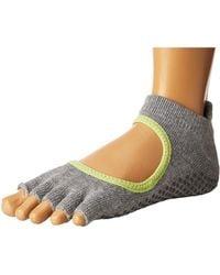 ToeSox - Grip Half Toe Bellarina (black) Women's Low Cut Socks Shoes - Lyst