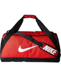 Nike - Brasilia Medium Duffel Bag (game Royal/black/white) Duffel Bags - Lyst